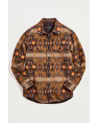 Pendleton Jacquard Cpo Jacket - Brown