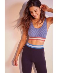 Out From Under - Lloyd Chevron Seamless Scoop-back Sports Bra - Womens L - Lyst