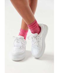 Urban Outfitters Uo Wide Ribbed Crew Sock - Multicolor