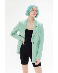 C/meo Collective High Heart Button-front Blazer - Green