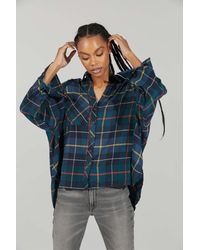BDG Lachlan Flannel Button-down Shirt - Green