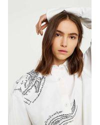 Angel Chen Beast Oversized Shirt - White