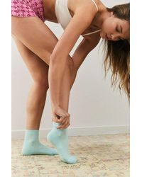 iets frans... Blue Recycled Crop Socks