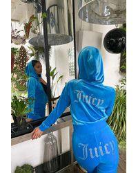 Juicy Couture / UO Exclusive - Hoodie Diva in Blau mit Reißverschluss