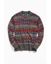 O'Hanlon Mills Fair Isle Crew Neck Sweater - Multicolor