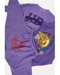 Urban Renewal Remade From Vintage Purple Bubble Hem Sweatshirt