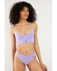 iets frans... Jersey Seamless Bralette - Purple