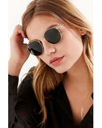 e2cec00d0a6 ... free shipping ray ban ray ban round metal classic sunglasses lyst 925ef  2b24e