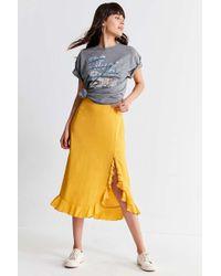 Capulet Willow Ruffle Midi Skirt - Yellow