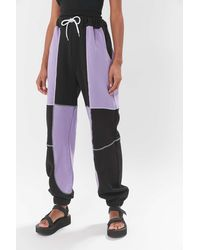 The Ragged Priest Paneled Baggy Jogger Pant - Purple