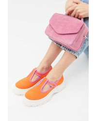 Urban Outfitters Uo Shirlee Chunky Canvas T-strap Oxford - Multicolor
