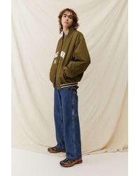 iets frans... Khaki Varsity Jacket - Natural