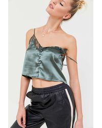 Urban Outfitters - Uo Satin Button-front Cami - Lyst
