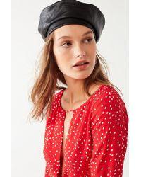 Urban Outfitters | Faux Leather Beret | Lyst