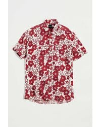 Pleasant Upcycled Floral Print Shirt - Red