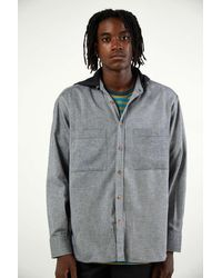 PAS DE MER Hooded Football Shirt - Gray