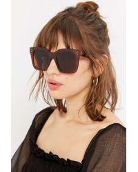 Urban Outfitters Piper Oversized Square Sunglasses - Brown