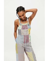 Urban Outfitters Uo Nikki Patchwork Overall - Blue