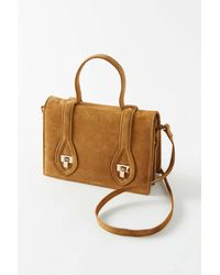 Urban Outfitters Alice Top Handle Crossbody Bag - Brown