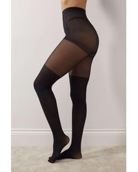 Urban Outfitters Sheer Over-the-knee Tights - Black