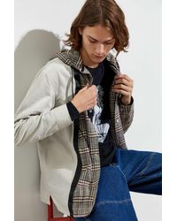 Urban Outfitters Uo Menswear Plaid Hooded Overshirt - Multicolor