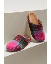 Urban Outfitters Uo Heidi Shearling Slip-on Clog - Multicolor