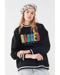 The Ragged Priest Rainbow Logo Sweatshirt - Black