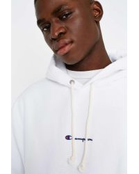 Champion - X Uo White Reverse Weave Hoodie - Lyst