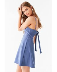 Urban Outfitters - Uo Textured Tie-back Mini Dress - Lyst