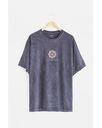 Urban Outfitters Uo Blue Geo Graphic T-shirt