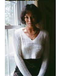 Urban Outfitters Uo Martini Sweater - White
