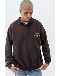 BDG Brown Crest Rugby Polo Shirt