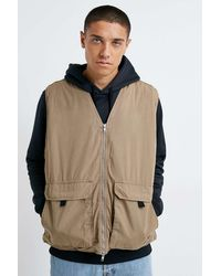 Urban Outfitters Uo Washed Cotton Gilet - Multicolour
