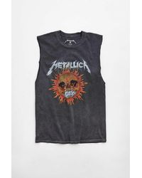 Urban Outfitters Metallica Ride The Lightning Muscle Tee - Black