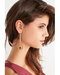 Urban Outfitters - Saturn Statement Drop Earring - Lyst