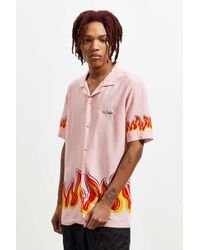 Barney Cools - Pink Flames Short Sleeve Button-down Shirt - Lyst