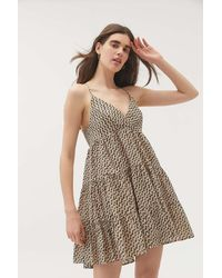 Urban Outfitters Uo Fieldstone Mini Dress - Multicolor