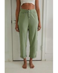 Out From Under Danica Button-front Lounge Pant - Green
