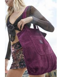 Urban Outfitters Uo Corduroy Pocket Tote Bag - Purple