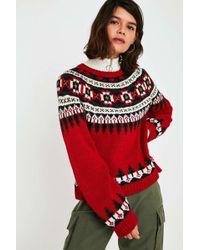 5c0da0042 Lyst - Urban Outfitters Somedays Lovin Oceans Crochet Fringe Sweater ...