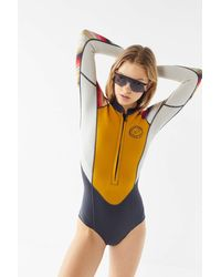 Urban Outfitters x Billabong Billabong Salty Daze Long Sleeve Spring Wetsuit - Multicolor