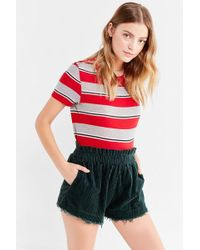 Urban Outfitters - Uo Corduroy Pull-on Frayed Short - Lyst