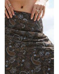 Urban Outfitters Uo Paisley Print Chiffon Midi Skirt - Multicolour