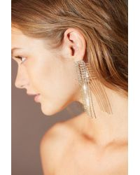 Urban Outfitters - Falling Rhinestone Statement Drop Earring - Lyst