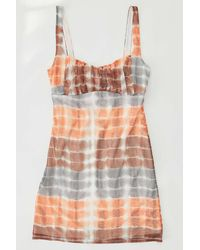 Urban Outfitters Uo Anya Mesh Mini Dress - Orange