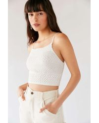 a89fa65063 Urban Outfitters - Uo Camden Pointelle Sweater Cami - Lyst