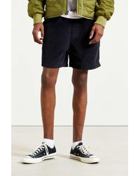 Urban Outfitters Uo Corduroy Volley Short - Black