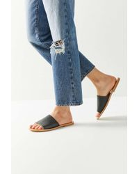 84050a7c58a Lyst - Urban Outfitters Ecote Skinny Strap Thong Sandal in Black
