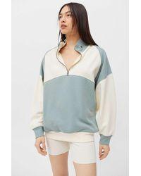 BDG Grey Miranda Quarter-zip Sweatshirt