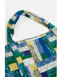 Urban Outfitters Uo Patchwork Quilt Tote Bag - Blue